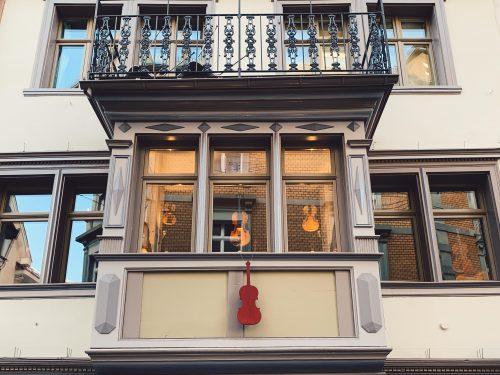 janelas no centro histórico de st gallen
