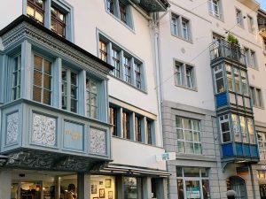 arquitetura e janelas no centro histórico de st gallen