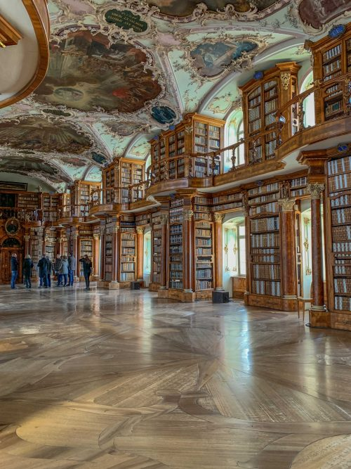 biblioteca de st gallen por dentro
