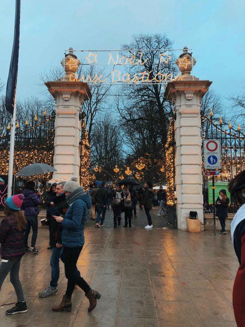 entrada do mercado de natal em genebra