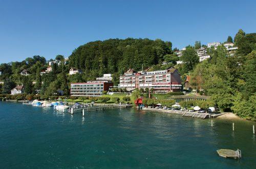 vista do hotel hermitage em lucerna
