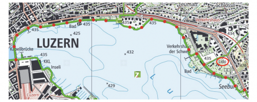 mapa do entorno do lago lucerna