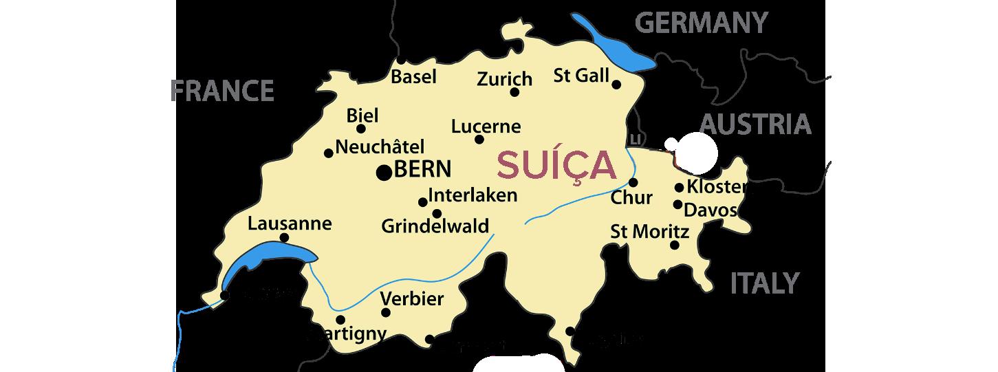 mapa de cidades suíça