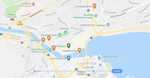 pontos turísticos em Lucerna