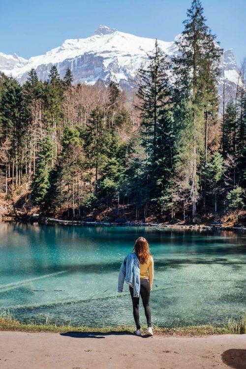 Lago Blausee na Suíça
