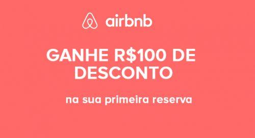 R$100 de desconto no Airbnb