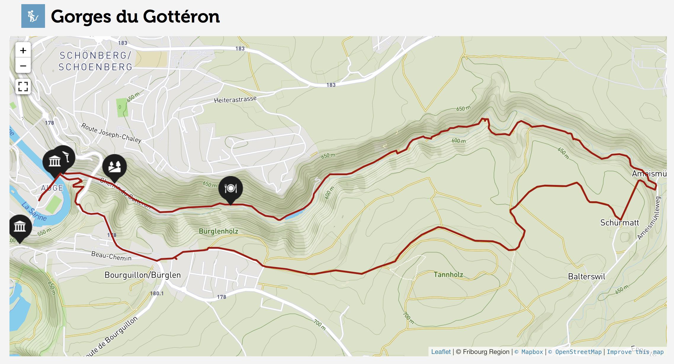 Gorges du Gottéron - caminhada em Fribourg