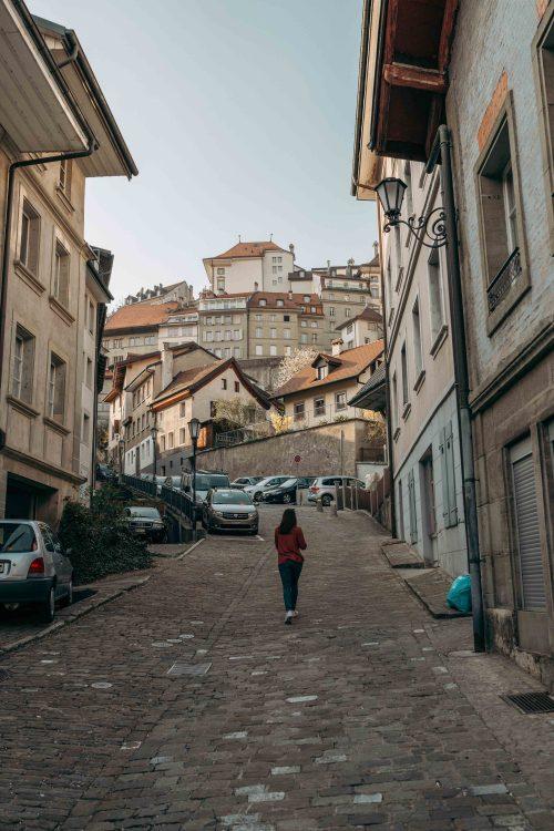 pelas ruas de Fribourg