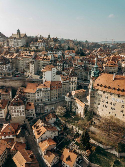 Fribourg vista panorâmica