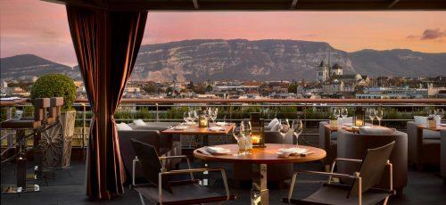 onde ficar em genebra: four seasons foto restaurante