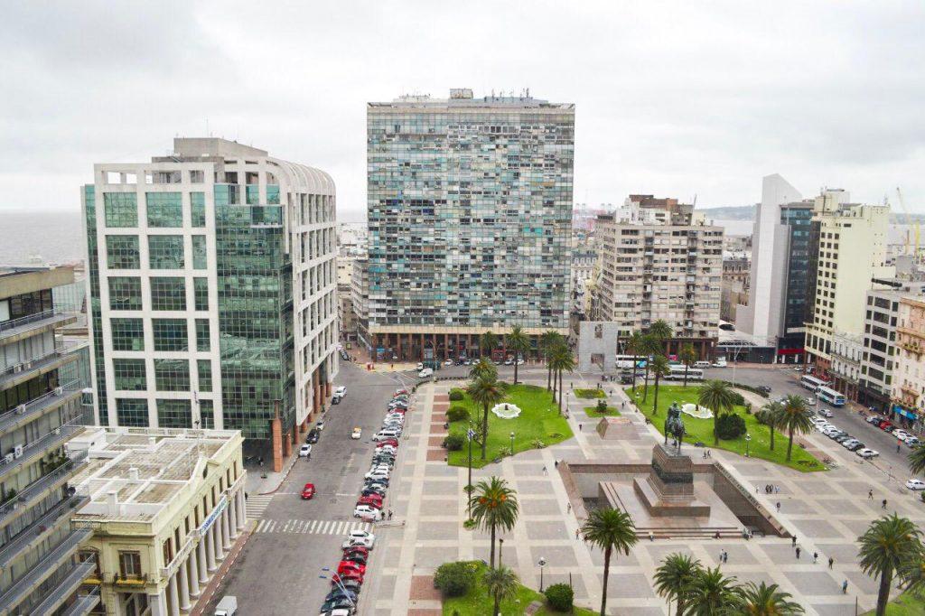 Onde ir em Montevidéu - Plaza Independencia vista de cima