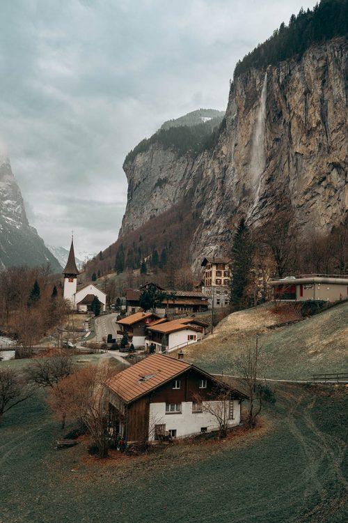 dicas de interlaken: lauterbrunnen e cachoeira