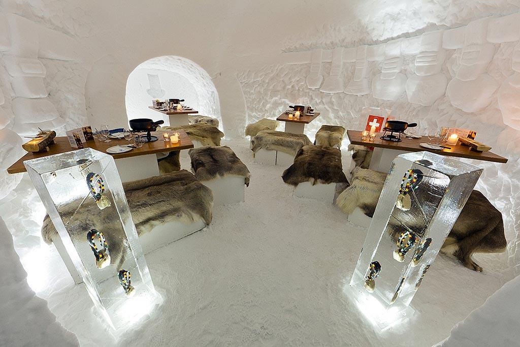 iglu com fondue em engstligenalp na suíça