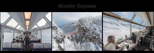 roteiro de inverno na suíça: glacier express