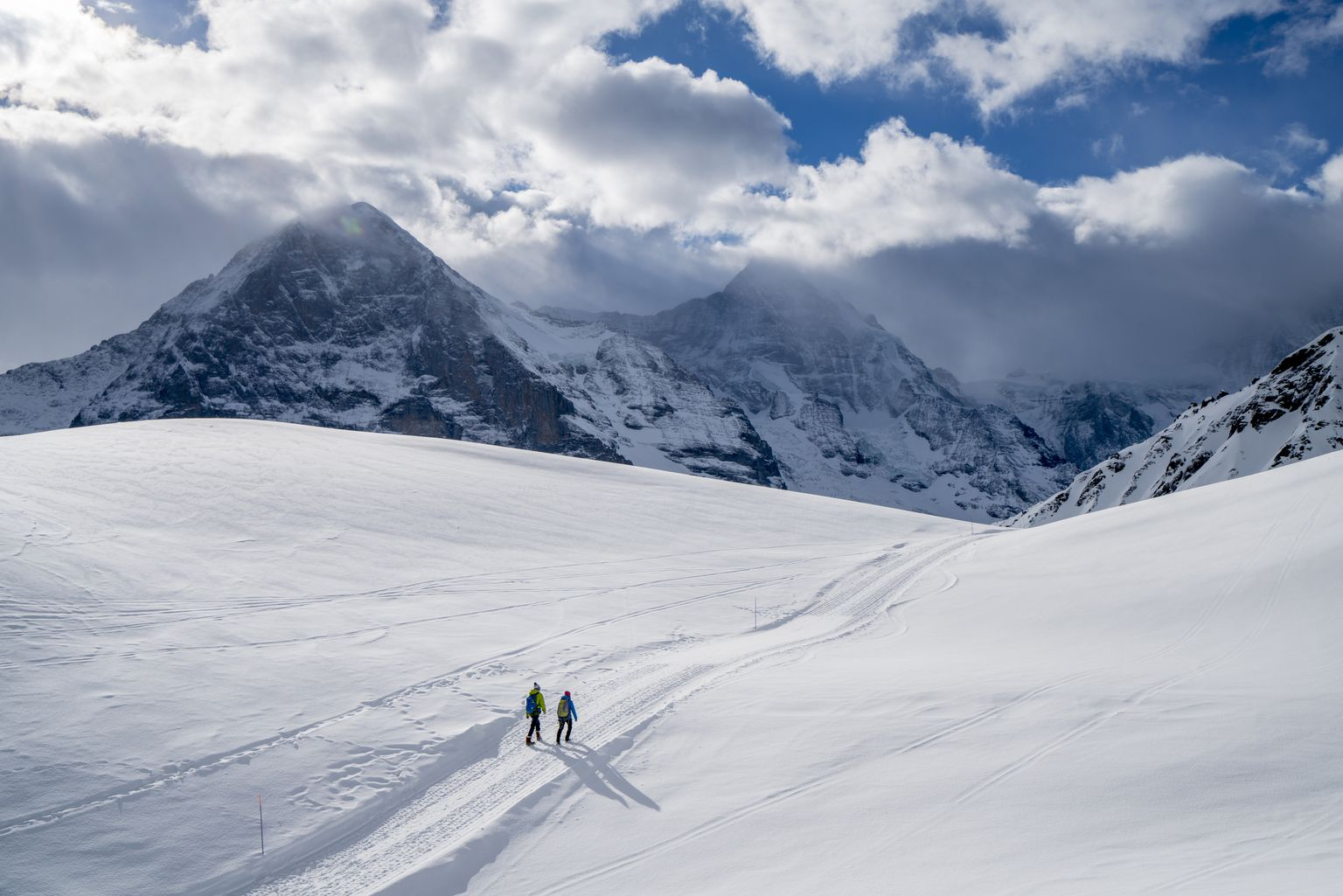 hike de inverno em grindelwad, no nosso roteiro pela suíça