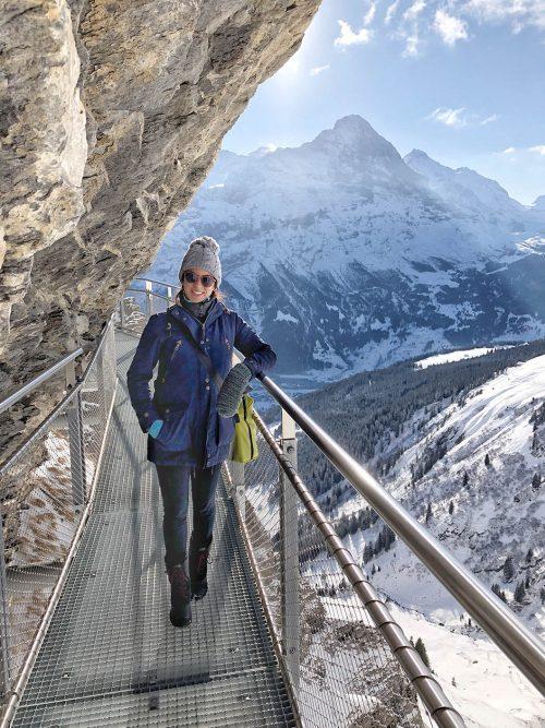 grindelwald no inverno na suica