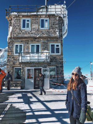 frio em jungfrau no inverno na suíça