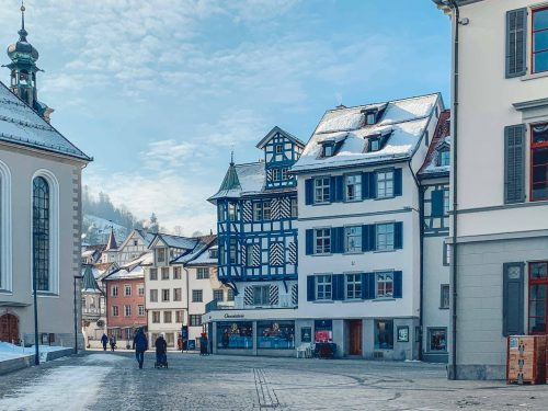 st gallen no inverno na Suíça