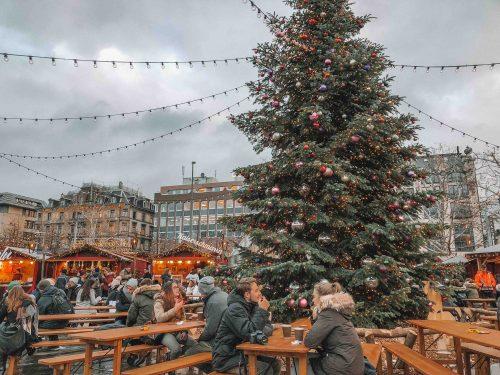 mercado de natal em zurich no inverno (dezembro)