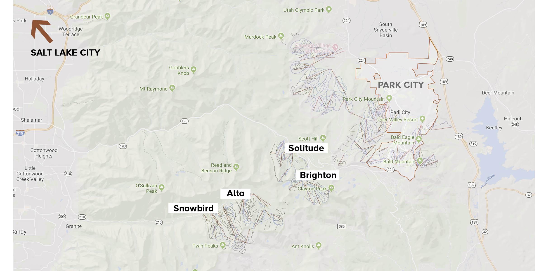 estações de ski próximas a Park City
