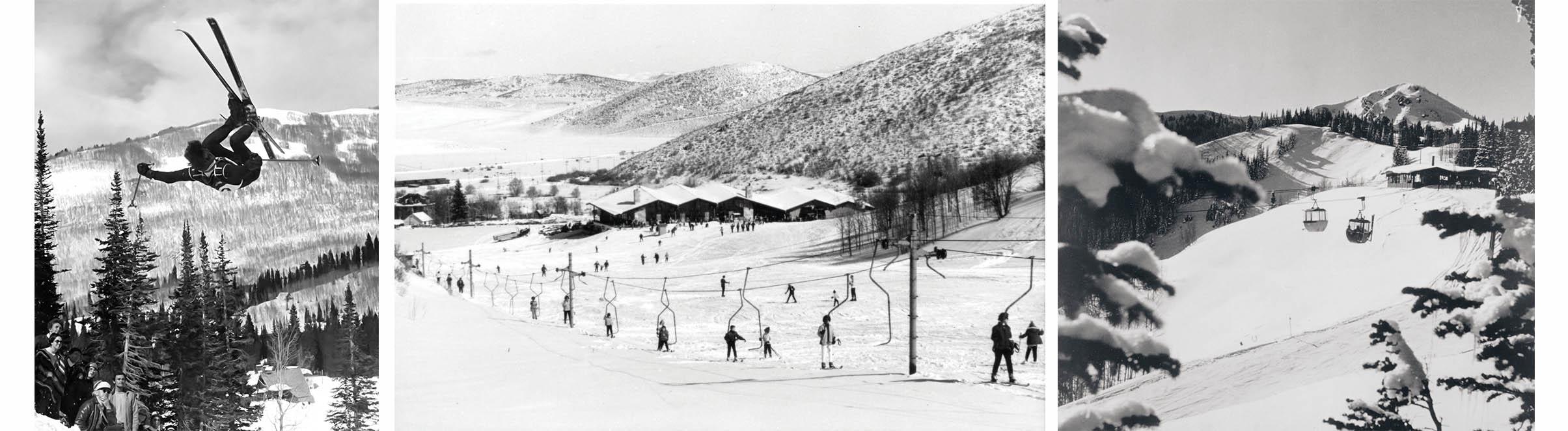 fotos históricas de park city como ski resort