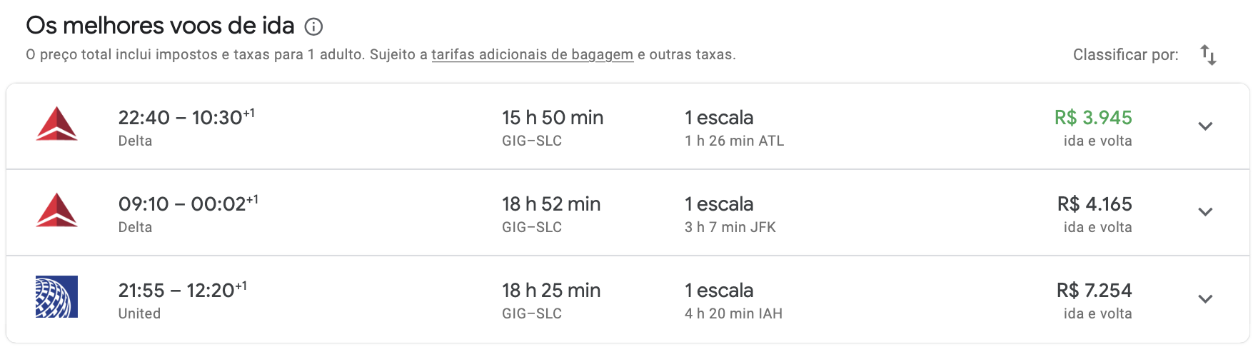 dicas de preços de voo para Park City