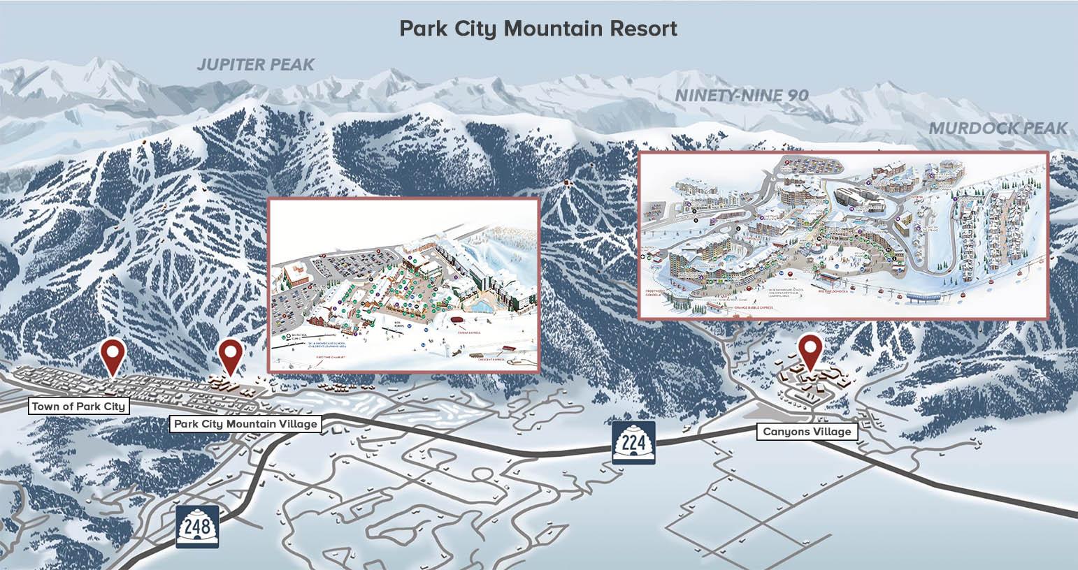 mapa de park city mountain village