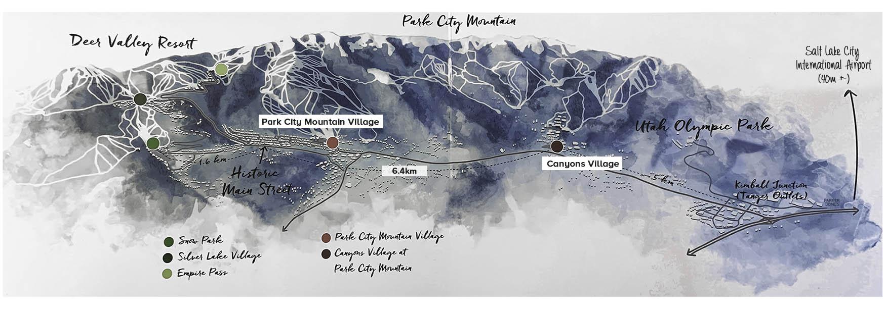 mapa park city
