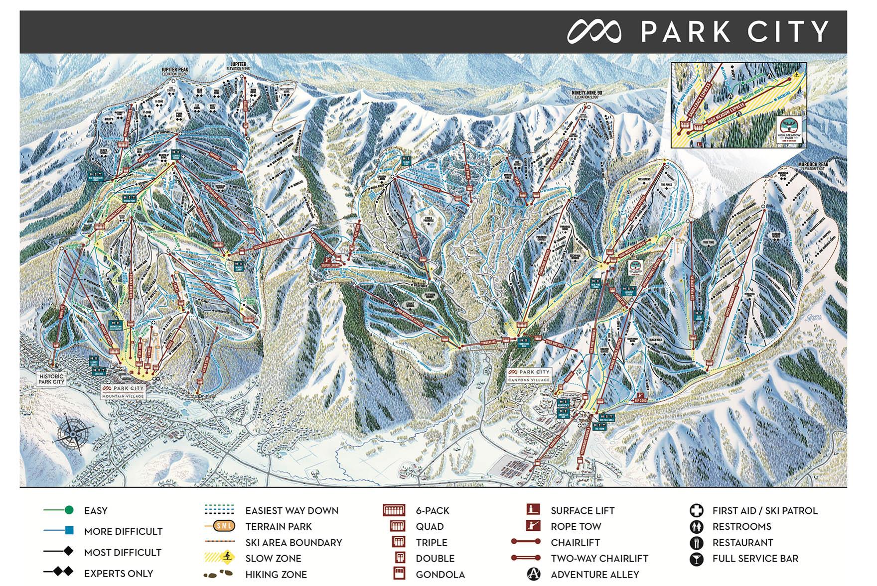 mapa de park city mountain