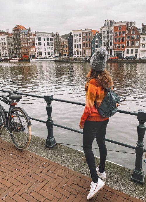dicas de Amsterdam: casas tortas