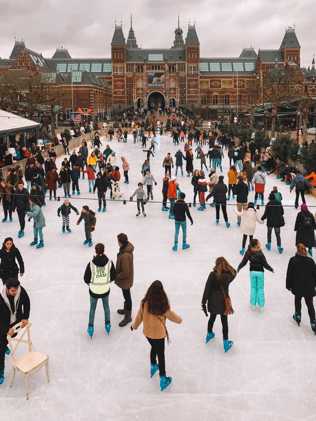 patinação no gelo em Amsterdam