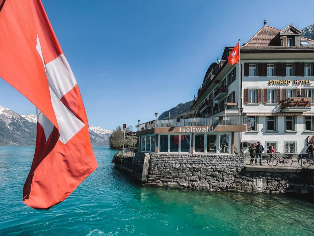 iseltwald durante o verão na Suíça