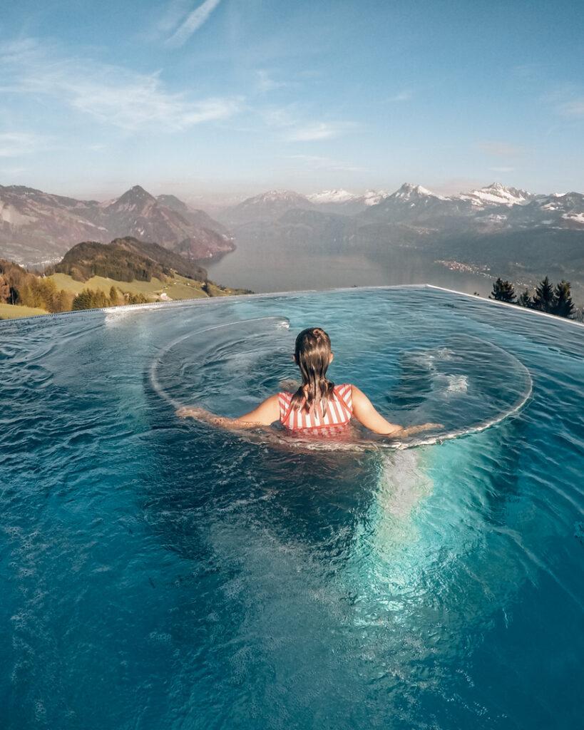 piscina do villa honegg na suíça